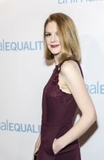 ASHLEY BELL at Animal Equality Global Action Annual Gala in Los Angeles 12/02/2017