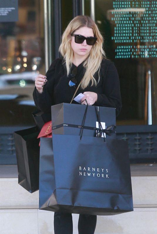 ASHLEY BENSON Shopping at Barneys New York in Beverly Hills 12/24/2017