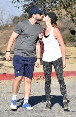 ASHLEY GREENE and Paul Khoury Out Hikking in Hollywood Hills 12/01/2017