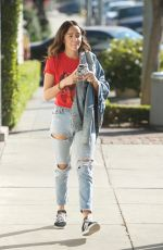 ASHLEY MADEKWE Out Shopping on Melrose in Los Angeles 12/16/2017