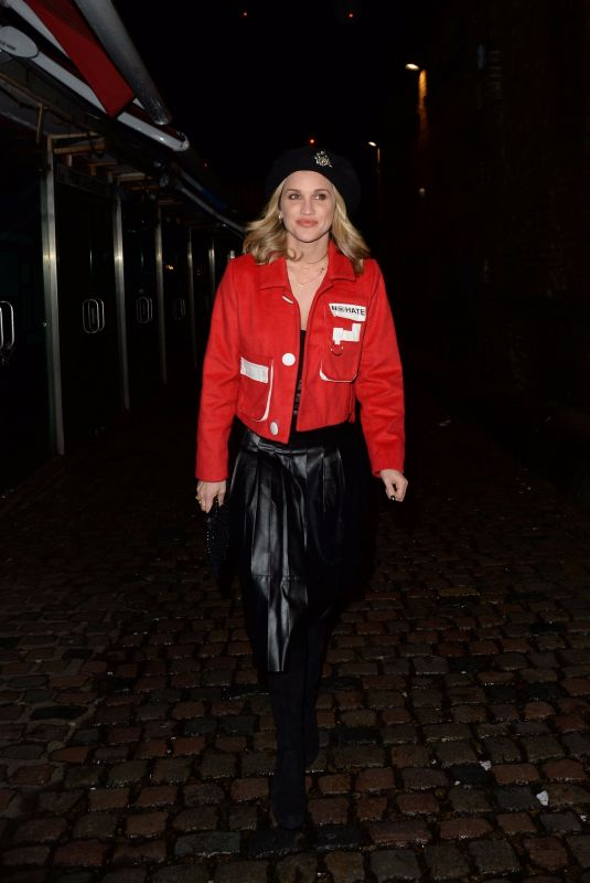 ASHLEY ROBERTS Arrives at Blue-Ggreen Secret Gig in London 12/11/2017