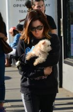 ASHLEY TISDALE Out with Her Dog in Venice Beach 12/19/2017