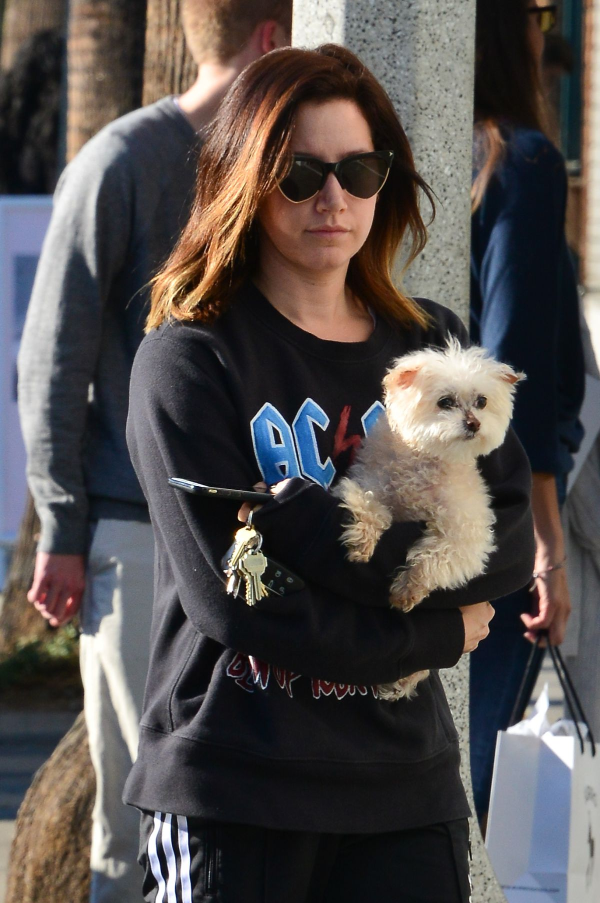 Ashley Tisdale Out With Her Dog In Venice Beach 12192017 Hawtcelebs