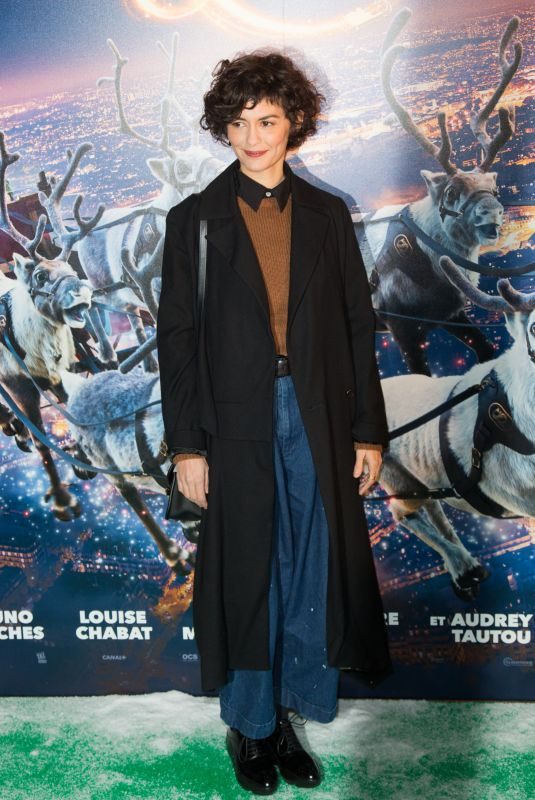 AUDREY TAUTOU at Santa and Cie Premiere in Paris 12/03/2017