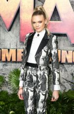 BECCA DUDLEY at Jumanji: Welcome to the Jungle Premiere in London 12/07/2017