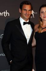BELINDA BENCIC and Roger Federer at Hopman Cup New Years Eve Players Ball in Perth 12/31/2017