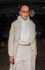 BELLA HADID at Heathrow Airport in London 12/07/2017