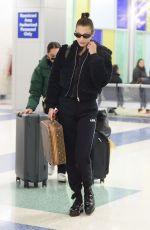 BELLA HADID at JFK Airport in New York 12/10/2017