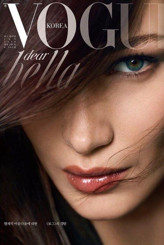 BELLA HADID for Vogue Magazine, Korea January 2018