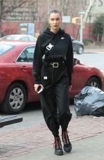 BELLA HADID Out and About in New York 12/17/2017