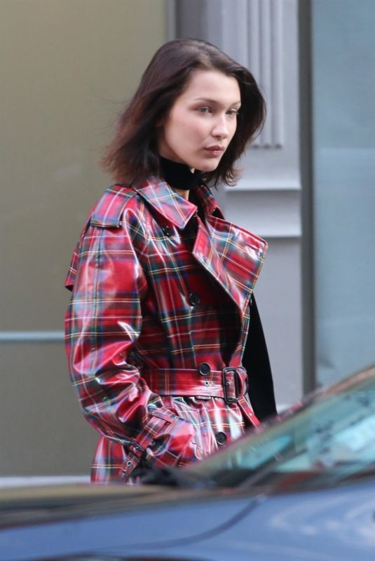 BELLA HADID Out for Lunch in New York 11/30/2017