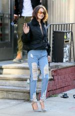 BELLA HADID Out in New York 12/11/2017