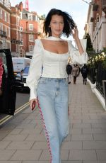 BELLA HADID Out Shopping in London 12/08/2017