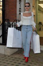 BELLA HADID Shopping at Balenciaga in London 12/08/2017