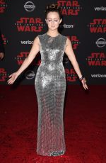 BILLIE LOURD at Star Wars: The Last Jedi Premiere in Los Angeles 12/09/2017