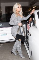 BLAC CHYNA Leaves LA Live in Downtown in Los Angeles 12/23/2017