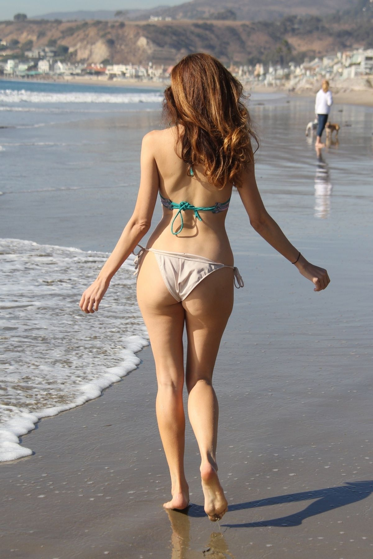 Blanca Blanco in Pink Bikini at the beach in Malibu Pic 21 of 35
