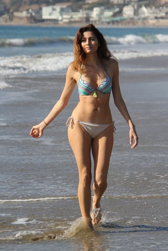 BLANCA BLANCO in Bikini on the Beach in Malibu 12/29/2017