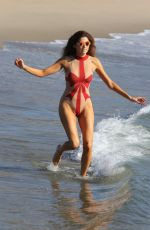 BLANCA BLANCO in Swimsuit at a Beach in Malibu 12/23/2017