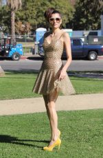 BLANCA BLANCO on the Set of a Photoshoot at a Park in Los Angeles 12/02/2017