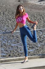 BLANCA BLANCO Workout Out at a Beach in Malibu 12/22/2017