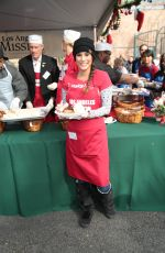 BONNIE JILL LAFIN at LA Mission Serves Christmas to the Homeless in Los Angeles 12/22/2017