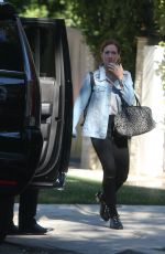 BRITTANY SNOW Leaves Her Home in Los Angeles 12/12/2017