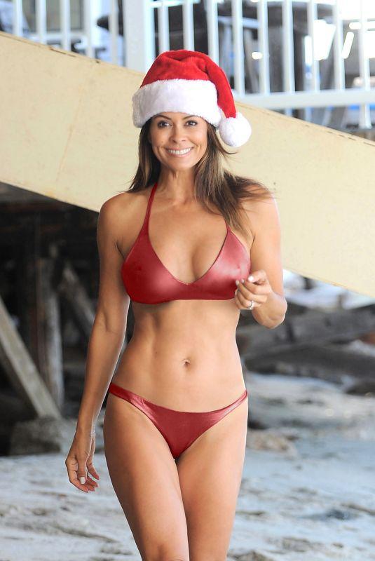 BROOKE BURKE in Bikini into Christmas Spirit in Malibu 12/25/2017