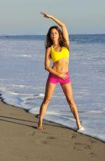 BROOKE BURKE in the Set of Her Brooke Burke Body App at a Beach in Malibu 11/30/2017