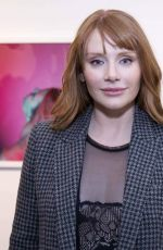 BRYCE DALLAS HOWARD at Anton Yelchin Provocative Beauty Opening Night in New York 12/13/2017