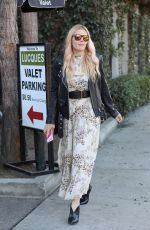 BUSY PHILIPPS Leaves Lucques in Los Angeles 12/01/2017