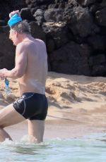 CAMILLE GRAMMER at a Beach in Hawaii 12/27/2017