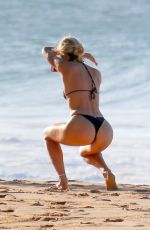 CANDICE SWANEPOEL in Bikini at a Beach in Brazil 12/22/2017