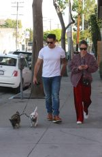 CARA SANTANA and Jesse Metcalfe Out with Their Dogs in West Hollywood 12/02/2017