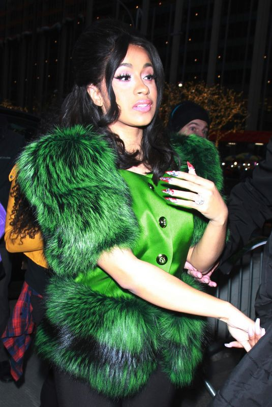 CARDI B Arrives at Tonight Show Starring Jimmy Fallon in New York 12/20/2017