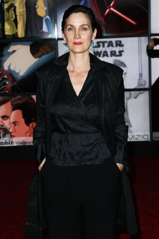CARRIE-ANNE MOSS at Star Wars: The Last Jedi Premiere in Los Angeles 12/09/2017