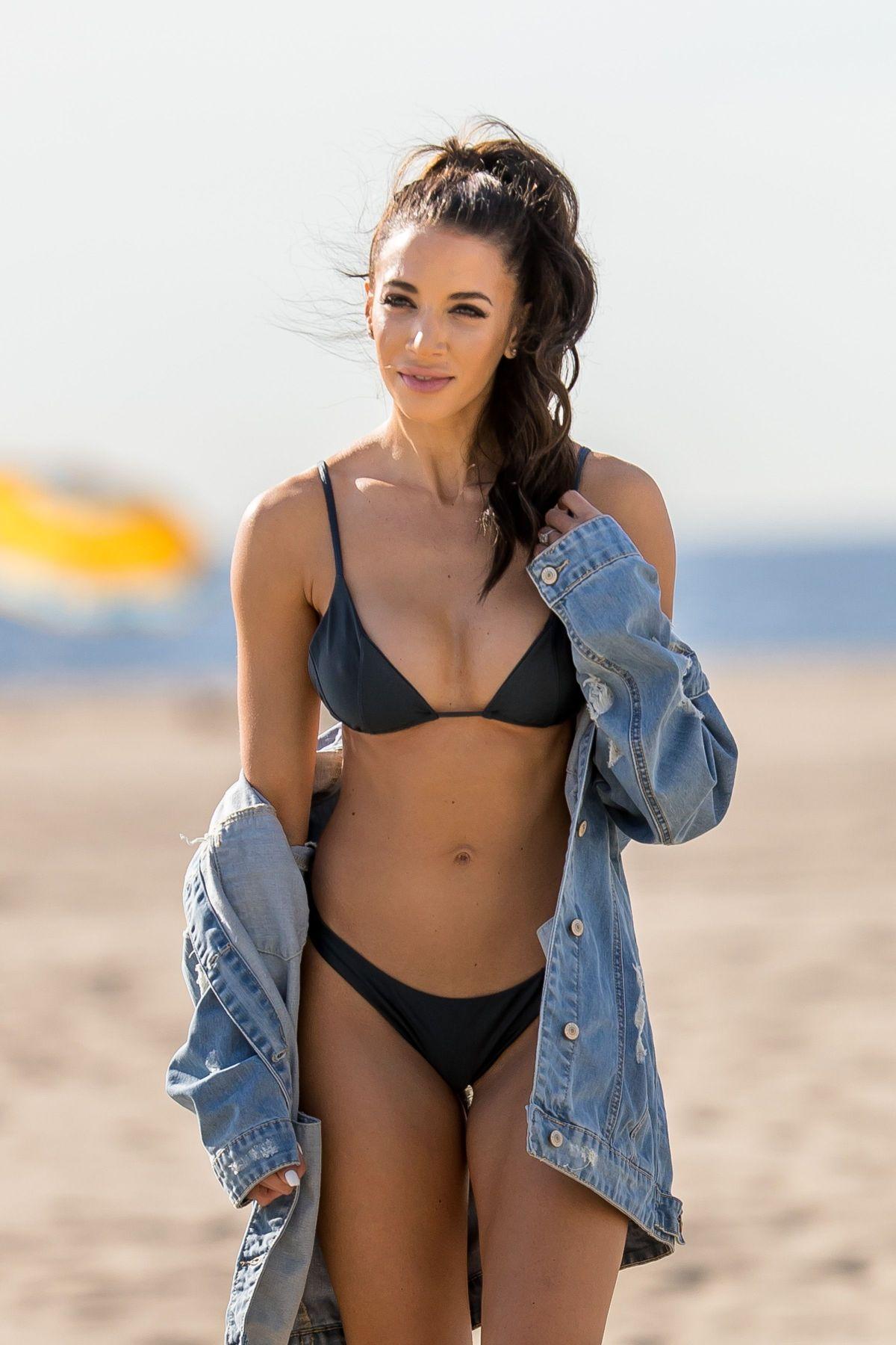 Casey Martin in Black Bikini on the beach in Santa Monica Pic 9 of 35