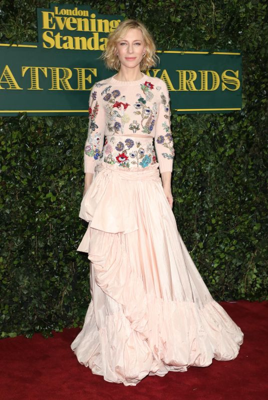 CATE BLANCHETT at London Evening Standard Theatre Awards in London 12/03/2017