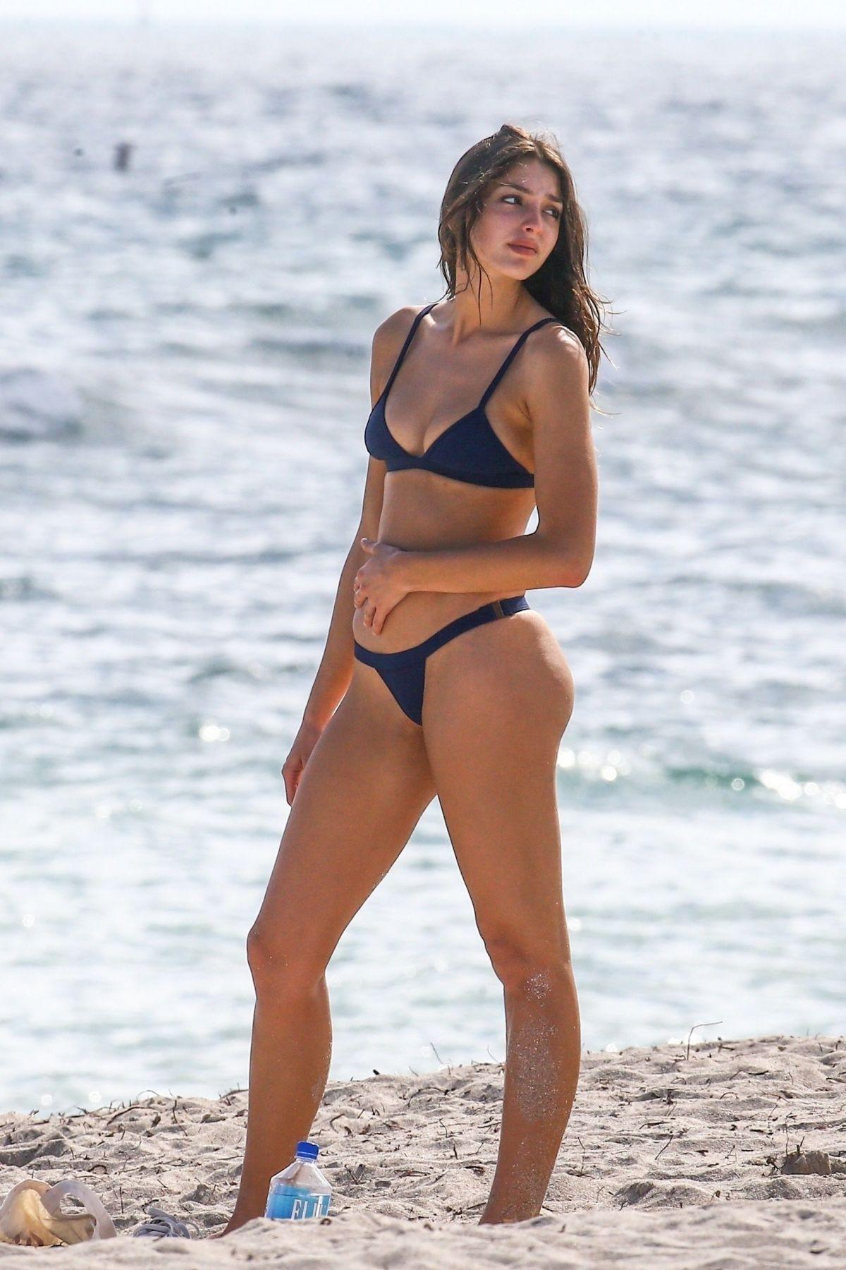 Casey Martin in Black Bikini on the beach in Santa Monica Pic 6 of 35