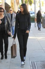 CHANEL IMAN Out Shopping in Beverly Hills 12/21/2017