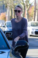CHARLIZE THERON Leaves a Spa in Studio City 12/27/2017