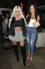 CHARLOTTE CROSBY and HOLLY HAGAN at Menagerie Bar and Restaurant in Manchester 12/29/2017