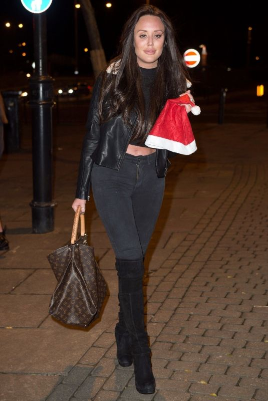 CHARLOTTE CROSBY Out for Christmas Eve in Sunderland 12/24/2017