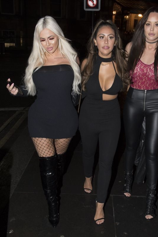 CHARLOTTE CROSBY, SOPHIE KASAEI and HOLLY HAGAN Night Out in Newcastle 12/09/2017