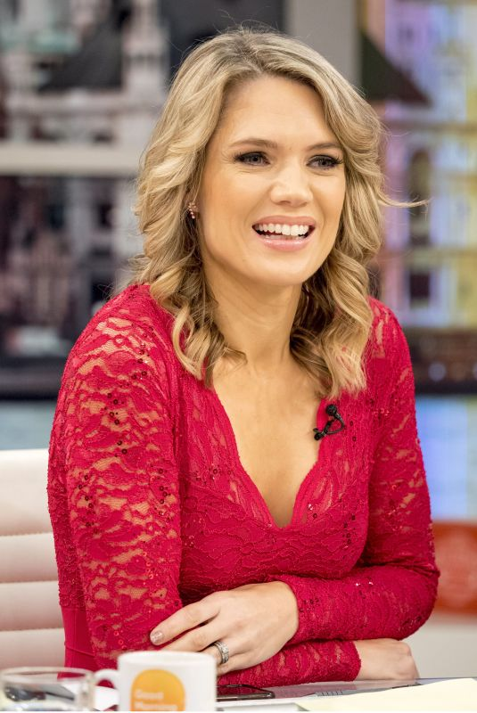 CHARLOTTE HAWKINS at Good Morning Britain Show in London 12/22/2017