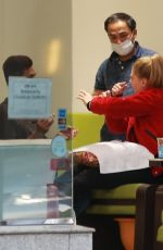 CHARLOTTE MCKINNET at a Nail Salon in Beverly Hills 11/30/2017