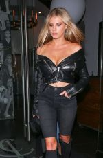 CHARLOTTE MCKINNEY Leaves Catch LA in West Hollywood 09/19/2017