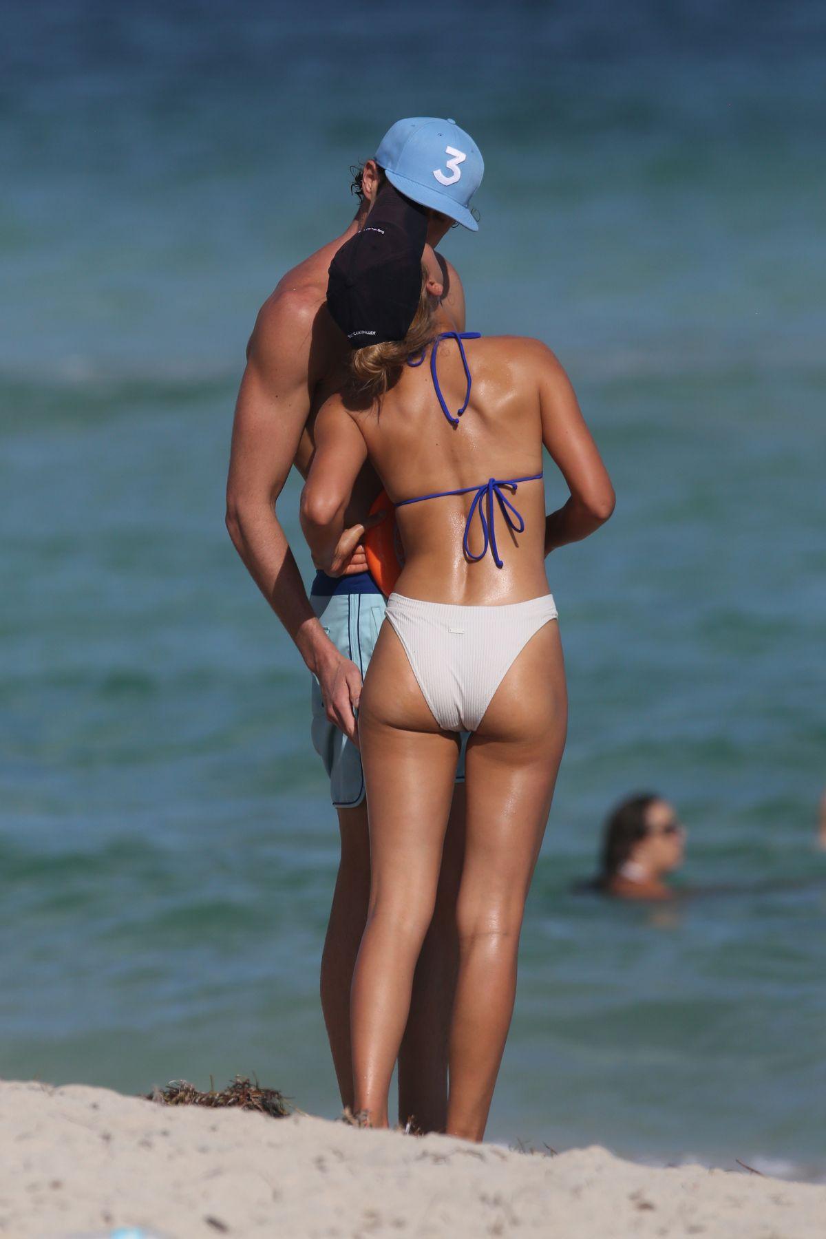 Chase Carter in Bikini at the beach in Miami Pic 9 of 35