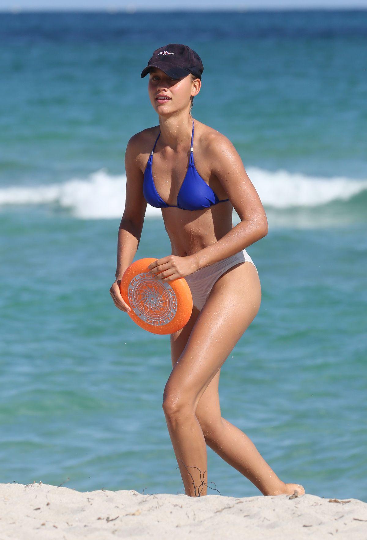 Chase Carter in Bikini at the beach in Miami Pic 3 of 35