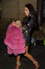 CHELSEE HEALEY at Rosso Restaurant for Christmas Night in Manchester 12/24/2017